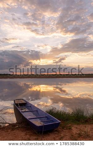 Paisagem dramático pôr do sol nascer do sol céu silhueta Foto stock © smuki