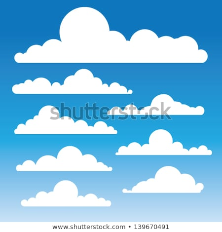 Drifting white clouds vector Stock photo © Tawng