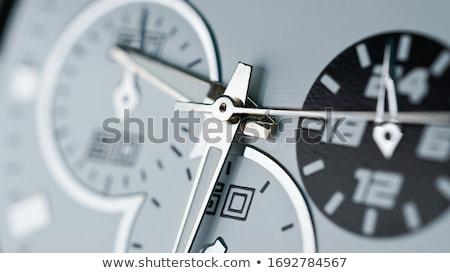 Clock macro shot vecchio comporre dieci Foto d'archivio © hamik