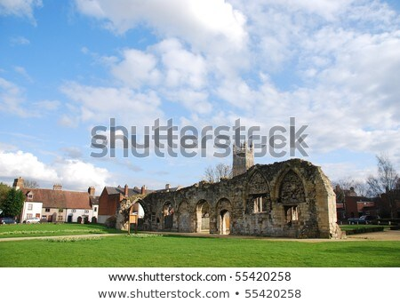 St Oswald's Priory ruins in Gloucester Stock photo © luissantos84
