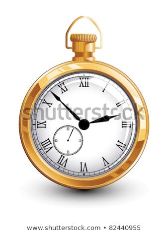 Vieux montre de poche ombre bois Photo stock © njnightsky