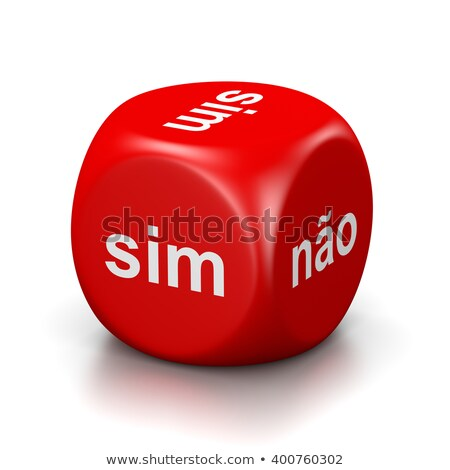 Yes or No Portuguese Red Dice Stock photo © make
