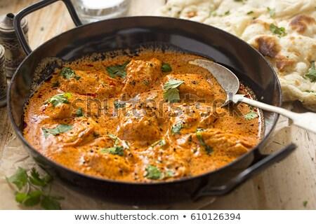 пряный куриные кремом риса Сток-фото © M-studio