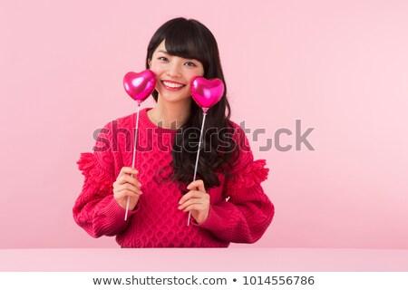 ázsiai · nő · gondolkodik · néz · töprengő · boldog - stock fotó © wavebreak_media