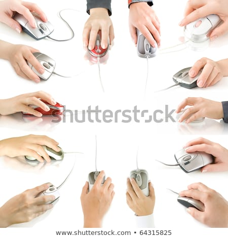 Collection of hands with computer mouse Stock photo © Sonya_illustrations