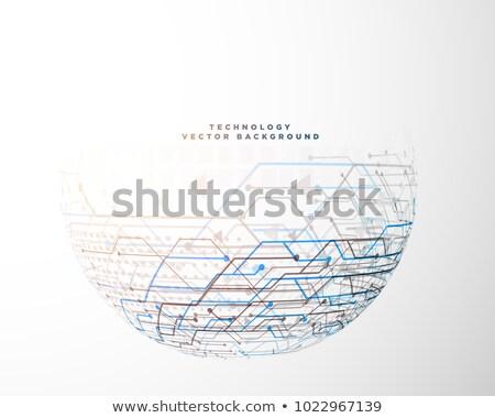 Fél kör technológia áramkör háló diagram Stock fotó © SArts