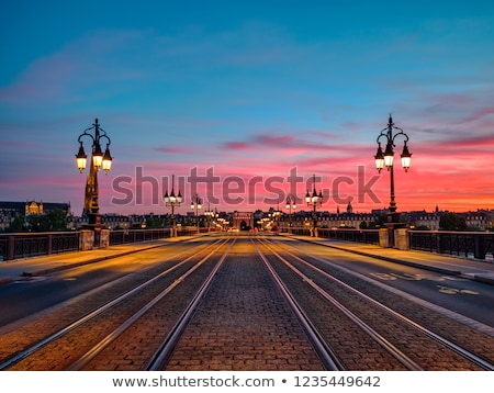 View of Pont de Pierre bridge from quay of Bordeaux city Stock photo © FreeProd