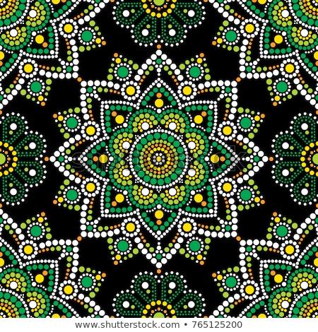 Dot painting vector seamless pattern with mandalas, Australian ethnic design, Aboriginal dots patte Stock photo © RedKoala