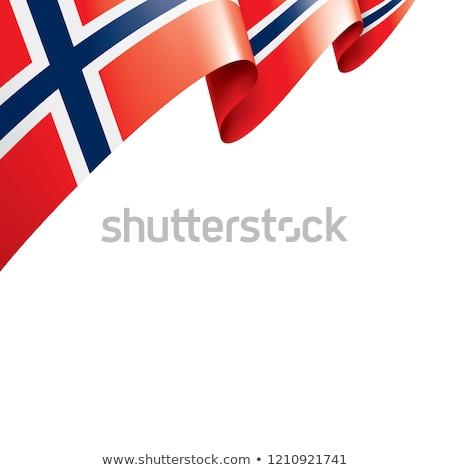 ノルウェー フラグ 孤立した ノルウェーの リボン バナー ストックフォト © popaukropa