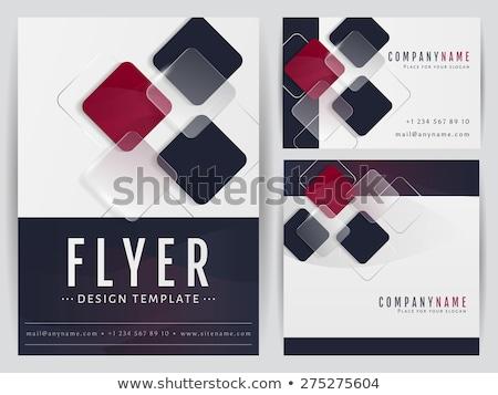 square paper banner cover transparent Stock photo © romvo