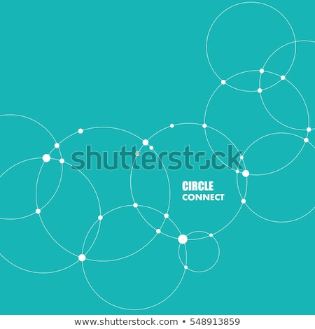 Vector background with overlapping circles and dots. Connect creative structure Stock photo © designleo