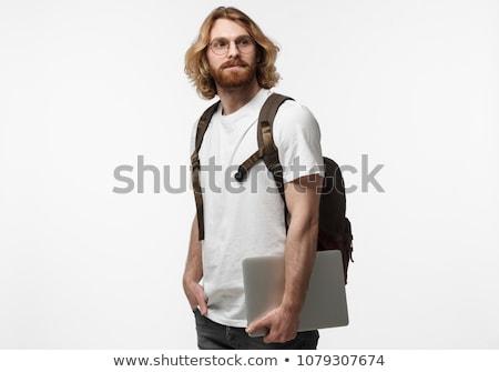 blond hair man White travel Stock photo © toyotoyo