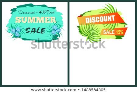 Discount with 45 and 15 Off Only at Summer Poster Stock photo © robuart