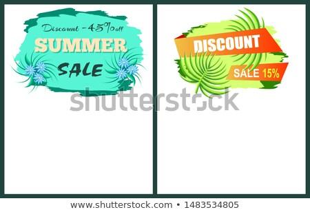 árengedmény 15 el nyár poszter promo Stock fotó © robuart