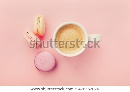 csésze · kávé · színes · tojás · asztal · csoport - stock fotó © Alex9500