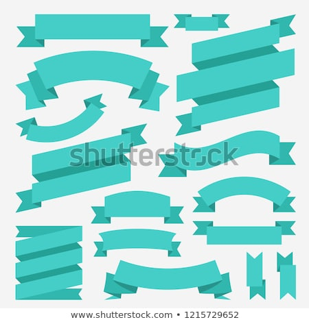 Set of colored ribbons and elements for illustration concept. Template for web and  mobile. Vector b Stock photo © Linetale