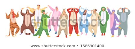 Cartoon porc pyjama illustration Photo stock © cthoman