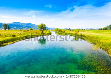 Colorful Gacka valley aerial summer view Stock photo © xbrchx