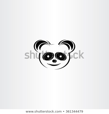 panda icon stylised vector icon Stock photo © blaskorizov
