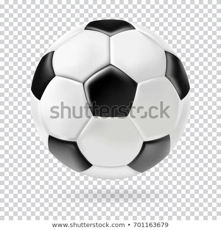 futballabda · izolált · futball - stock fotó © Wetzkaz