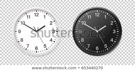 Black Clock illustration set Stock photo © Blue_daemon