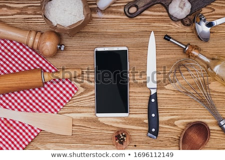 Household tools and tablet with empty screen  Stock photo © ra2studio