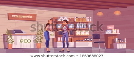 Beauty Cosmetics Stand with Production Vector Stock photo © robuart