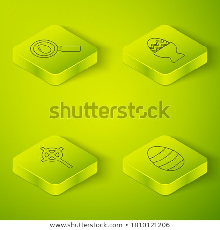 Ilustração isolado lupa ícone cristão atravessar Foto stock © kyryloff