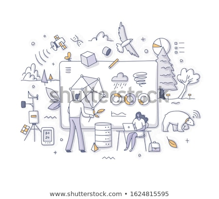 Milieu gegevens analytics globale handel beurs Stockfoto © RAStudio
