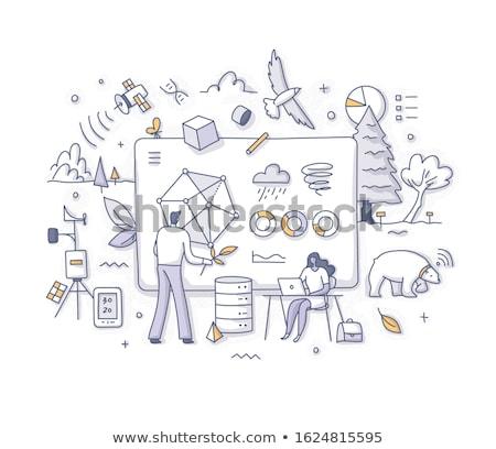 Environment data analytics concept vector illustration Stock photo © RAStudio