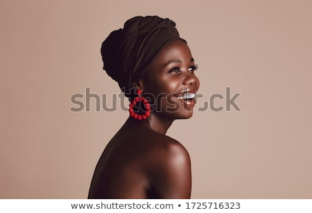 Jovem bela mulher turbante retrato mulher Foto stock © dashapetrenko