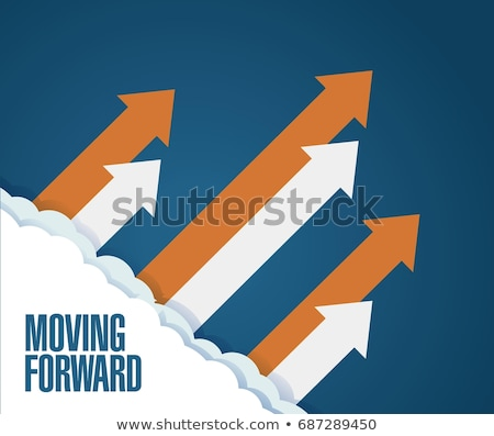 growth arrows moving forward direction concept Stock photo © SArts