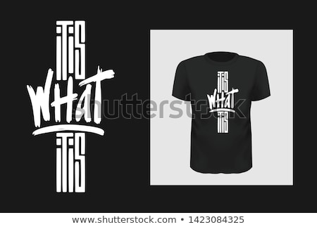 T-shirt design with graphic in front Stock photo © bluering
