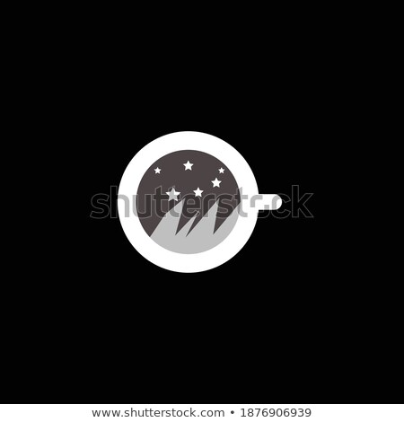 muffin · croissant · papel · taza · de · café · vector · ilustración - foto stock © cidepix
