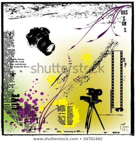 film · strip · velho · grunge · filme · fundo - foto stock © lizard
