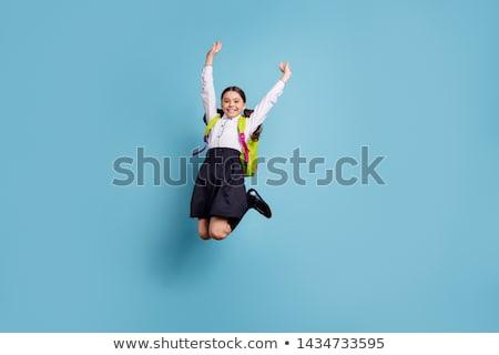 Ein Mädchen glücklich Schuluniform Illustration Frau Mädchen Stock foto © bluering
