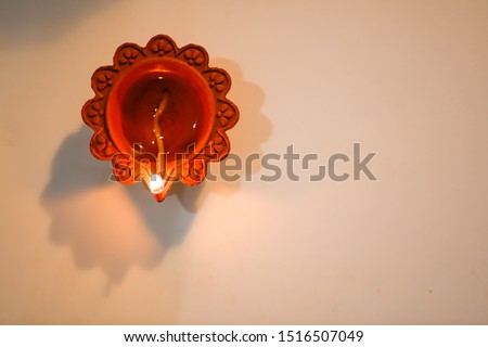 diya lamp top view for diwali festival Stock photo © SArts