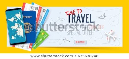 Wereld toeristen Europa amerika asia Stockfoto © RAStudio
