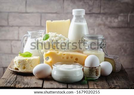Verre bols différent alimentaire boire Photo stock © Alex9500