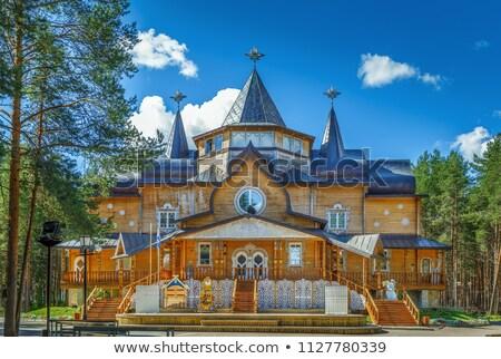 Residenza Russia legno estate padre nonno Foto d'archivio © borisb17