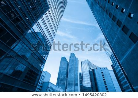 オフィスビル 市 実例 オフィス ツリー 建物 ストックフォト © bluering