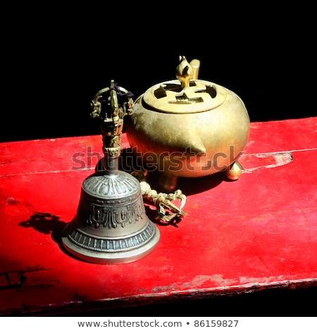 Buddhistisch Ritual Objekte Glocke Still-Leben Stock foto © dmitry_rukhlenko