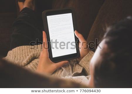 домой диване женщину книга Сток-фото © galitskaya