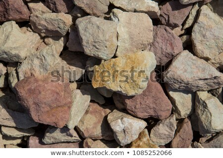 large chunks of brick stone rubble Stock photo © Melvin07