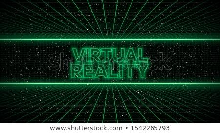 futuristische · abstract · Blauw · grafische · groene - stockfoto © nmarques74