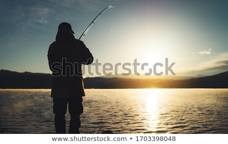 Man fishing in river Stock photo © photography33