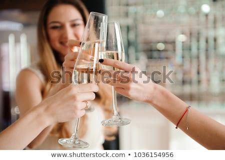 festa · de · aniversário · mulher · champanhe · festa · feliz - foto stock © photography33