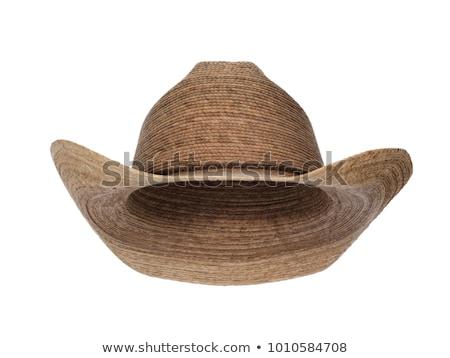 ковбойской шляпе изолированный белый фон Cowboy Hat Сток-фото © OleksandrO