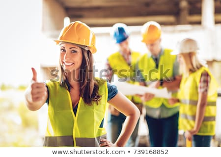 thumbs up from a female electrician stock photo © photography33