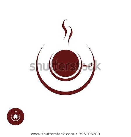 бумаги · чашку · кофе · наклейку · далеко · продовольствие - Сток-фото © maxmitzu